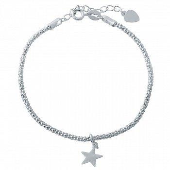 Серебряный браслет с подвеской в форме звезды 000118821