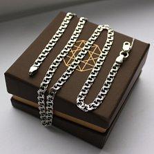Серебряная цепь Мэрион с чернением