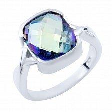 Серебряное кольцо Тересия с топазом мистик