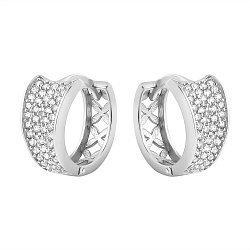 Серебряные серьги-конго Моментальный успех с узорами и цирконием 000088886