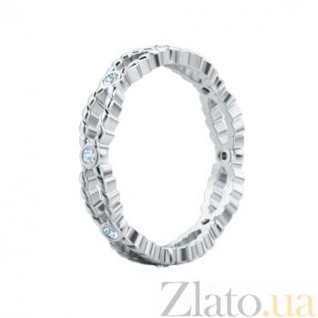 Обручальное кольцо из белого золота с бриллиантами Стремительный порыв 183