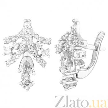 Серебряные серьги с фианитами Хрусталь SLX--С2Ф/094