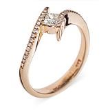 Золотое кольцо с бриллиантами Octans