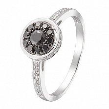 Кольцо в белом золоте Азалия с бриллиантами