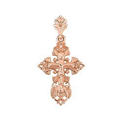 Православный крестик из красного золота 000135806