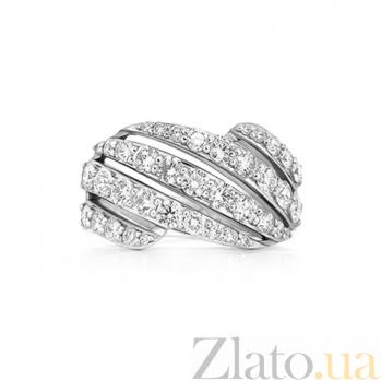 Кольцо из белого золота с сапфирами Любовная история 000029738