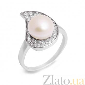Кольцо из серебра с белым жемчугом Люси AQA--R00733PW