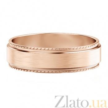Мужское обручальное кольцо из розового золота Исполнение желаний 417