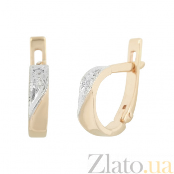 Золотые серьги с фианитами Иви 2С171-0124