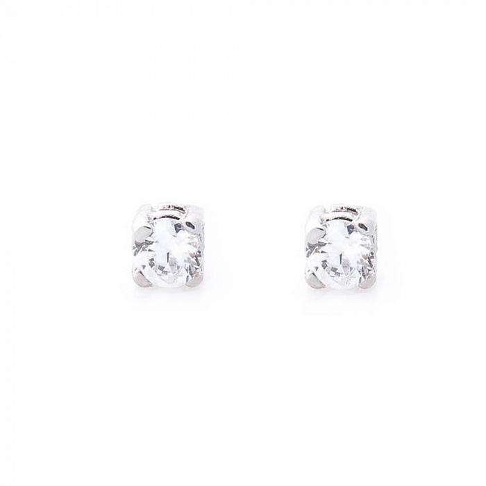 Серебряные серьги-пуссеты Аля с цирконием 000080215