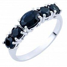Серебряное кольцо Наира с сапфирами