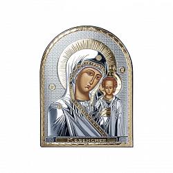 Серебряная Икона Матерь Божья с позолотой 000014134