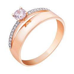 Золотое кольцо с фианитами 000008210