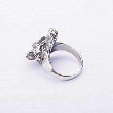 Серебряное кольцо Волк