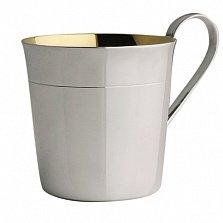 Детская серебряная чашка Korpus с полоской под краем и внутренней позолотой, 170мл
