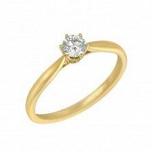 Кольцо из желтого золота Эмили с бриллиантом