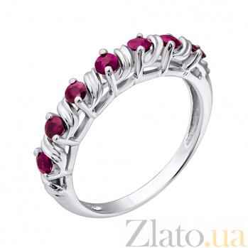 Серебряное кольцо с рубинами Приам ZMX--RR-6108-Ag_K