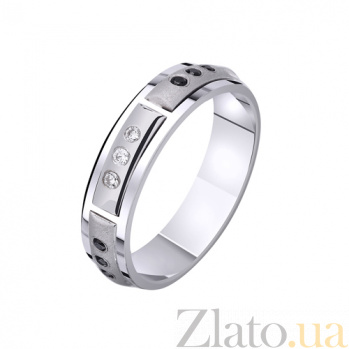 Золотое обручальное кольцо Совершенство стиля с фианитами TRF--422721