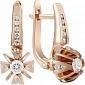 Золотые серьги с бриллиантами Королевская лилия KBL--С2260