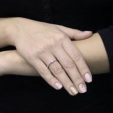 Золотое помолвочное кольцо Асгард в белом цвете с бриллиантом