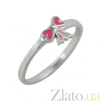 Серебряное кольцо с эмалью Бантик 3К544-0009