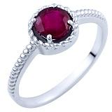 Серебряное кольцо Карима с рубином