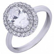 Серебряное кольцо с фианитами Огнево