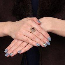 Золотое кольцо Веллингтон с гранатами