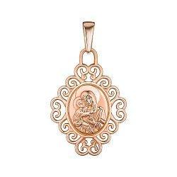 Ладанка из красного золота Пресвятая Богородица Владимирская 000147007