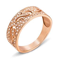 Золотое кольцо Mary в красном цвете с фианитами