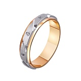 Золотое обручальное кольцо Испанская страсть с фианитами
