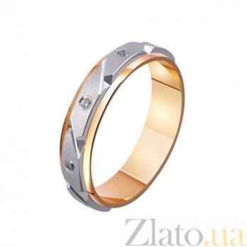 Золотое обручальное кольцо Испанская страсть с фианитами TRF--4421109