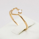 Золотое кольцо с фианитом Sweet love