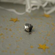 Серебряный шарм Ежик