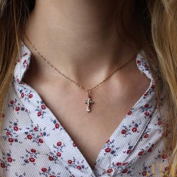 Золотой крестик Ангел Небесный 000006562