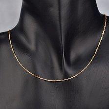 Золотая цепочка Найли в красном цвете якорного плетения, 2мм