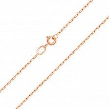 Серебряная цепочка позолоченная Имидж, 1мм