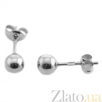 Серебряные серьги-пуссеты Сара TNG--580055С
