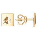 Серьги Елочки в желтом золоте