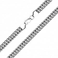 Браслет из серебра Гренада в плетении королевский бисмарк