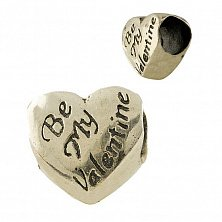 Серебряный шарм Be my Valentine