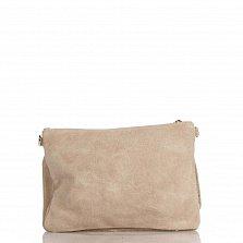 Кожаный клатч Genuine Leather 1512 темно-бежевого цвета с накладным карманом