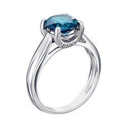 Серебряное кольцо Адриана с голубым кварцем