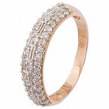 Позолоченое серебряное кольцо Путь к звездам