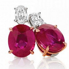 Серьги Argile-Z с рубинами и бриллиантами