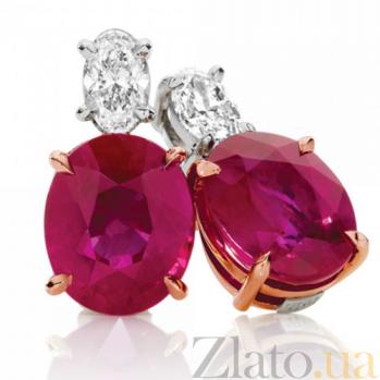 Серьги Argile-Z с рубинами и бриллиантами E-cjZ-W/R-2r-2d