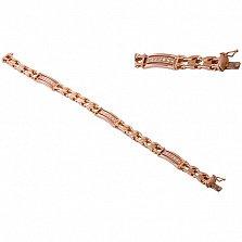 Золотой браслет с фианитами Карамия