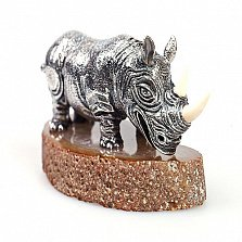 Серебряная статуэтка Носорог