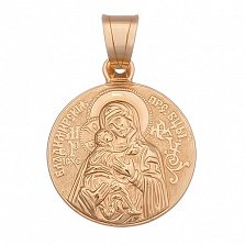 Золотая ладанка Божья Матерь Владимирская