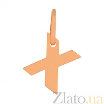 Золотая подвеска Буква Х VLN--314-1747